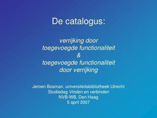 Doel catalogus voor publiek