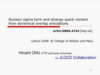Nucleon sigma term and strange quark content from dynamical overlap simulations