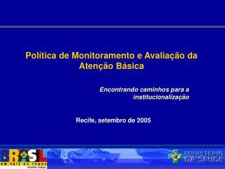 Recife, setembro de 2005