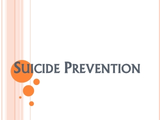 Preventing Suicide in Correctional Facilities