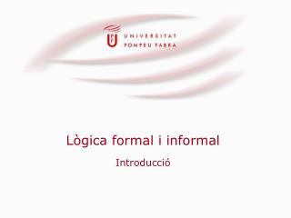 Lògica formal i informal