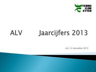 ALVJaarcijfers 2013