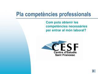 Pla compet�ncies professionals