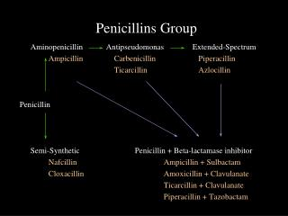 Penicillins Group