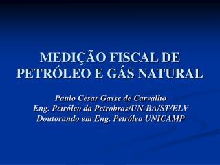MEDIÇÃO FISCAL DE PETRÓLEO E GÁS NATURAL