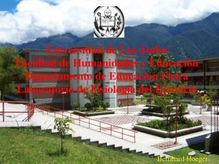 Universidad de Los Andes  Facultad de Humanidades y Educación Departamento de Educación Física