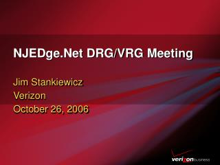 NJEDge.Net DRG/VRG Meeting