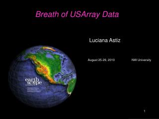 Breath of USArray Data