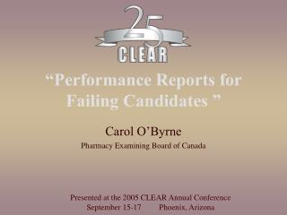 Performance Reports for Failing Candidates