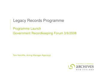 Legacy Records Programme