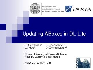Updating ABoxes in DL-Lite