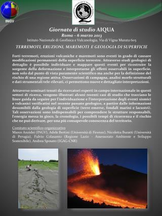 Giornata di studio  AIQUA Roma – 6 marzo 2013