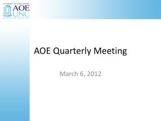 AOE Quarterly Meeting