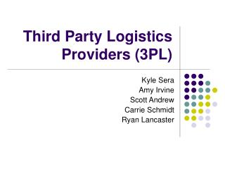 Third Party Logistics Providers 3PL