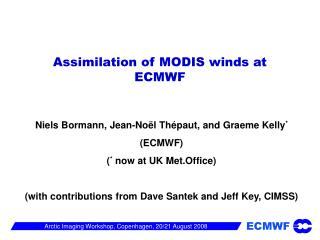 Assimilation of MODIS winds at ECMWF