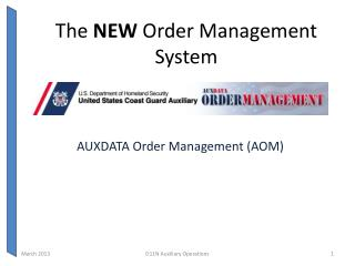 The  NEW  Order Management System