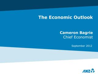 The Economic Outlook Cameron Bagrie Chief Economist