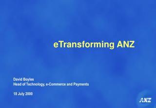 eTransforming ANZ