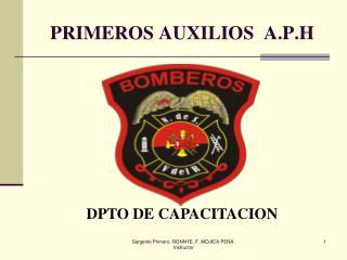 PRIMEROS AUXILIOS  A.P.H