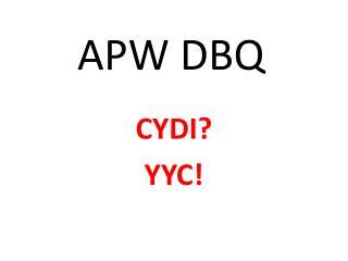 APW DBQ