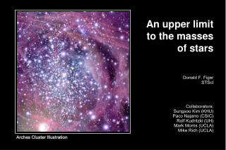 An upper limit to the masses of stars
