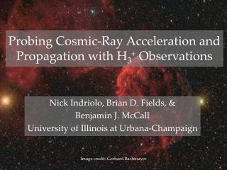 Probing Cosmic-Ray Acceleration and Propagation with H 3 +  Observations