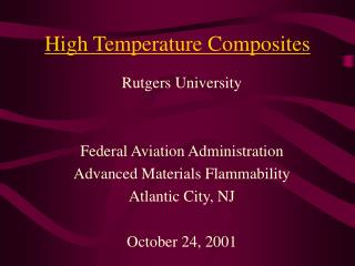 High Temperature Composites