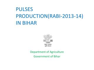 PULSES  PRODUCTION(RABI-2013-14)   IN BIHAR