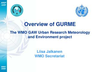 Overview of GURME The WMO GAW Urban Research Meteorology and Environment project