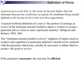 Definition of Rents