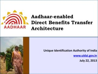 Aadhaar-enabled  Direct Benefits Transfer Architecture