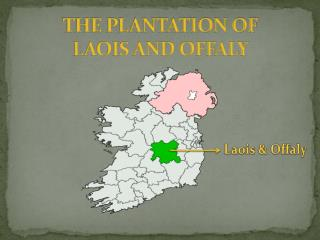 THE PLANTATION OF  LAOIS AND OFFALY