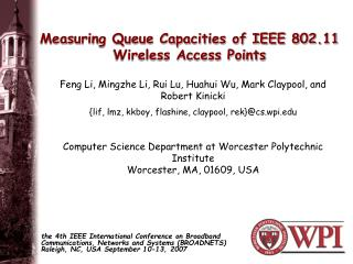Measuring Queue Capacities of IEEE 802.11 Wireless Access Points