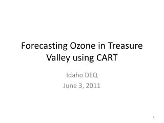 Forecasting Ozone in Treasure Valley using CART