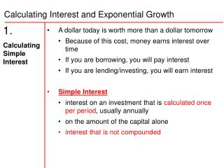 1.   Calculating Simple Interest