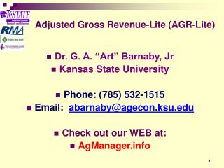 Adjusted Gross Revenue-Lite (AGR-Lite)