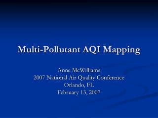Multi-Pollutant AQI Mapping