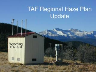TAF Regional Haze Plan Update