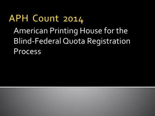 APH  Count  2014