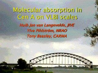 Molecular absorption in Cen A on VLBI scales