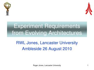 Experiment Requirements from Evolving Architectures