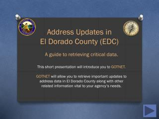 Address Updates in  El Dorado  County (EDC)