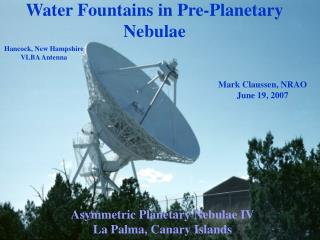 Water Fountains in Pre-Planetary Nebulae