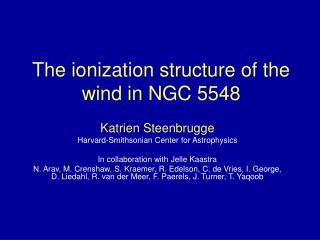 The ionization structure of the wind in NGC 5548