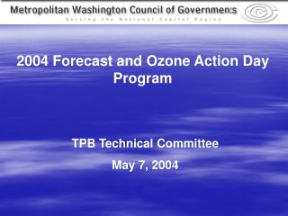 TPB Technical Committee May 7, 2004