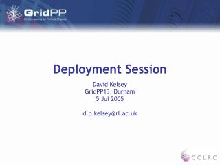 Deployment Session