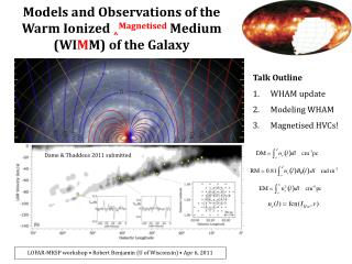 Models and Observations of the Warm Ionized  ^ Magnetised Medium (WI M M) of the Galaxy