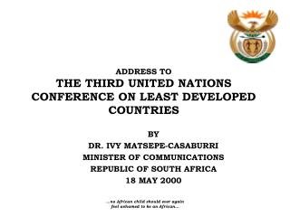 ADDRESS TO THE THIRD UNITED NATIONS CONFERENCE ON LEAST DEVELOPED COUNTRIES