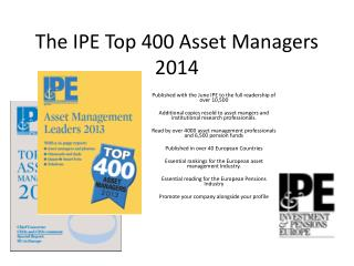 The IPE Top 400 Asset Managers 2014