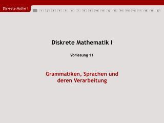 Diskrete Mathematik I